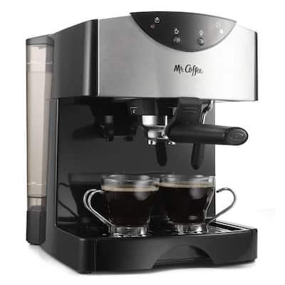 Cafe Espresso Black Stainless Steel Pump Espresso Machine