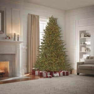 9 ft Elegant Grand Fir LED Pre-Lit Artificial Christmas Tree with 3000 Warm White Micro Dot Lights