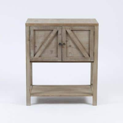 Wooden Farmhouse Storage Cabinet