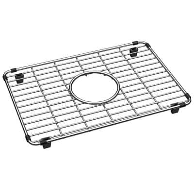 Crosstown 9.875 in. x 14.375 in. Bottom Grid for Kitchen Sink in Stainless Steel