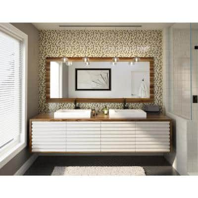 Take Home Sample - Trail Mix Mixed Browns 4 in. X 4 in. Stone Self-Adhesive Wall Mosaic Tile (0,11 sq. ft / Sample)