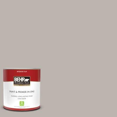 1 qt. #PPU18-12 Graceful Gray Flat Low Odor Interior Paint and Primer in One