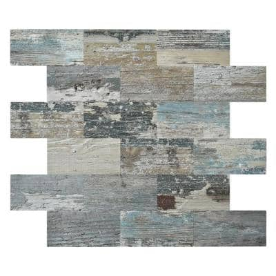 Subway Gray Stone 11.5 in. x 11.4 in. PVC Compose Peel and Stick Tile Backsplash (9.1 sq.ft./pack)