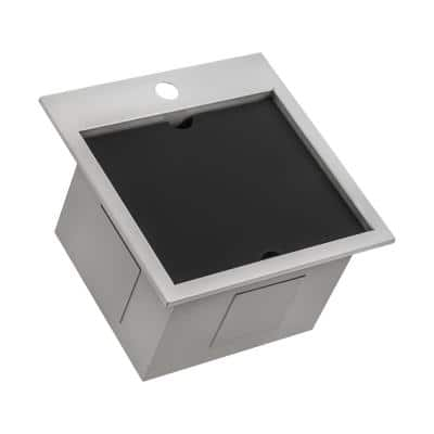 15 in. Single Bowl Workstation Drop-In Marine Grade Stainless Steel Outdoor Sink