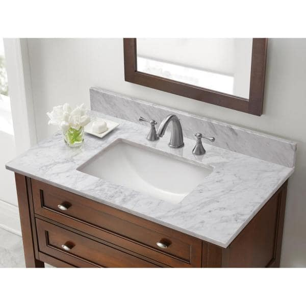 Pegasus - 4 in. x 4 in. White Carrara Marble Sample