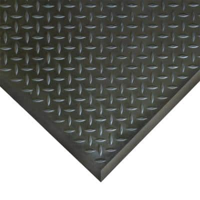Foot-Rest 28 in. x 31 in. Black Anti-Fatigue Mat Finished Tile