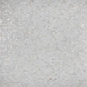 Conchella Subway White 11-1/2''x 11-7/8'' Natural Seashell Mosaic