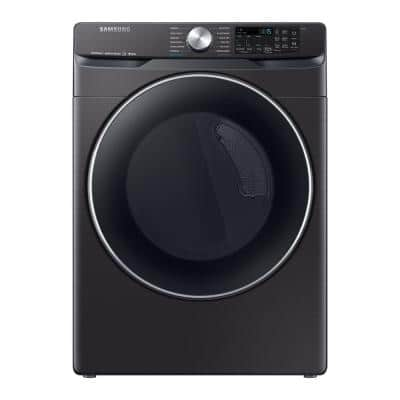 7.5 cu. ft. Fingerprint Resistant Black Stainless Electric Dryer with Steam Sanitize+, ENERGY STAR
