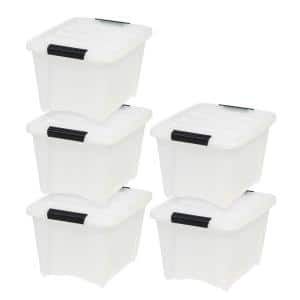 19 Qt. Stack and Pull Box in Pearl (5-Pack)