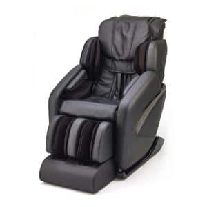 Jin Black Contemporary Synthetic Leather SL Track Deluxe Zero Gravity Massage Chair