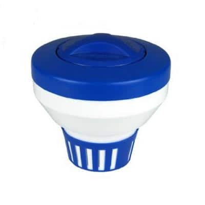 7.5 ft. Classic Blue and White Floating Swimming Pool Chlorine Dispenser