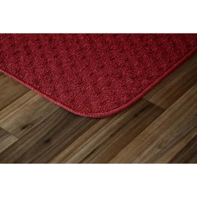 Town Square Chili Red 2 ft. x 2 ft. 2-Piece Rug Set