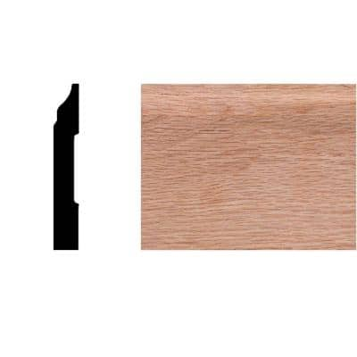 1/2 in. x 3-1/4 in. x 8 ft. Oak Colonial Base Moulding