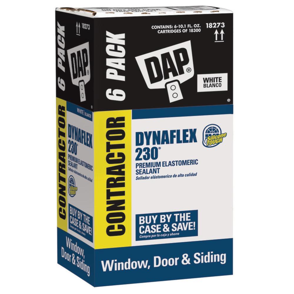 Dynaflex 230 10.1 oz. White Premium Exterior/Interior Window, Door and Trim Sealant (6-Pack)