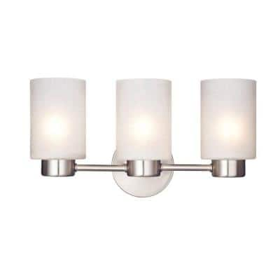 Sylvestre 3-Light Brushed Nickel Wall Fixture