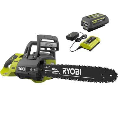 40V Brushless 16 in. Cordless Battery Chainsaw with 4.0 Ah Battery and Charger