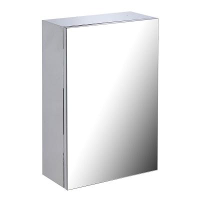 Madi 13-3/4 in. Width x 21-3/4 in. Height Stainless Steel Recessed or Surface Mount Bathroom Medicine Cabinet
