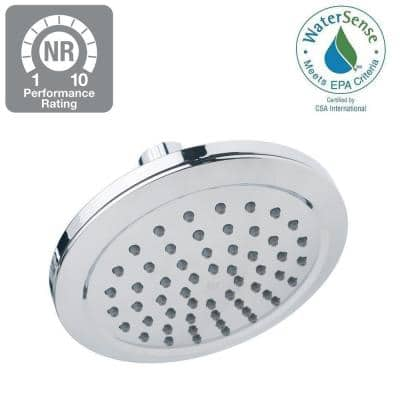 1-Spray 5.9 in. Single Wall Mount Fixed Shower Head in Chrome