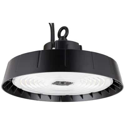 13.7 in. 500-Watt Equivalent Integrated LED 33,600 Lumens Wet Location Dimmable Black High Bay Light, 5000K