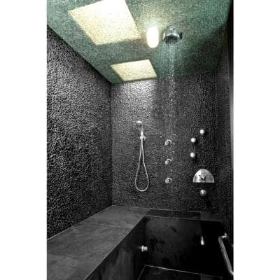 Anatolia Black Sea Minor 12 in. x 12 in. Stone Pebble Mosaic Floor and Wall Tile (10 sq. ft. / case)