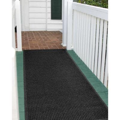 Squares 36 in. x 108 in. PET Polyester Door Mat Charcoal
