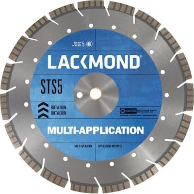 Multi-Application STS5 Series Segmented Turbo Diamond Blade