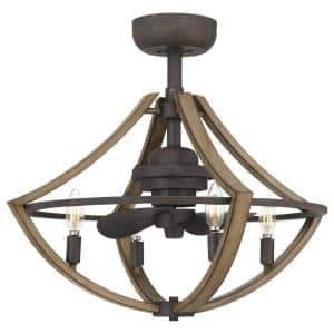 Shire 23.25 in. Rustic Black Ceiling Fan with Light