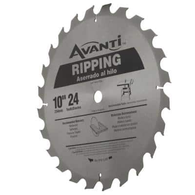 10 in. x 24-Tooth Ripping Circular Saw Blade