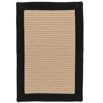 Beverly Black 8 ft. x 10 ft. Braided Indoor/Outdoor Area Rug