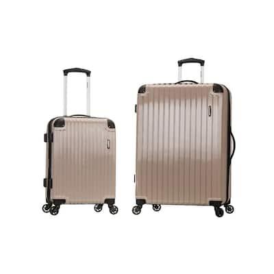 Santorini Expandable 2-Piece Hardside Spinner Luggage Set, Grey