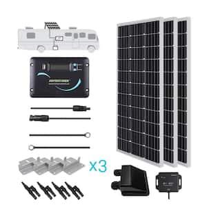 300-Watt 12-Volt Monocrystalline Solar RV Kit with 30 Amp PWM LCD Charge Controller