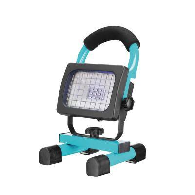 UV-C Light Disinfecting 10 Watt Rechargeable Work Light, Blue, Charger Included