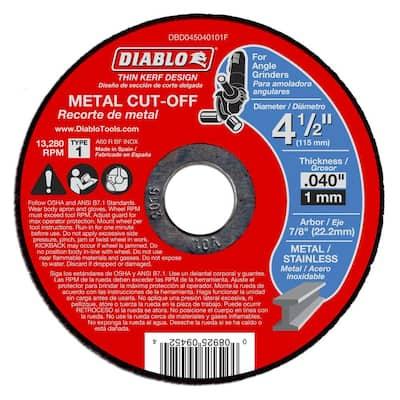4-1/2 in. x 0.040 in. x 7/8 in. Thin Kerf Metal Cut-Off Disc (15-Pack)