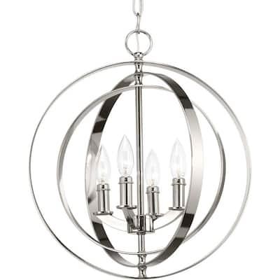 Equinox 4 -Light Polished Nickel Pendant