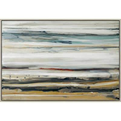 """2.5 in. x 70 in. """"Color Swathe"""" Framed Hand Painted Canvas Wall Art"""