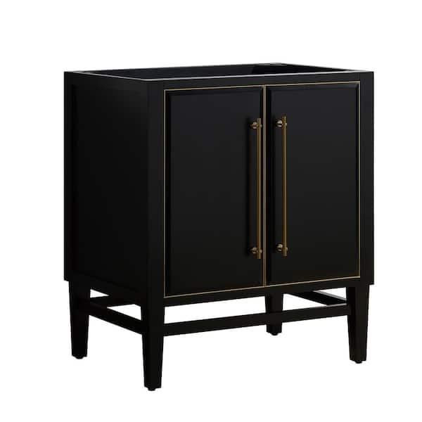 Avanity Mason 30 In Bath Vanity, Black Bathroom Vanity Cabinet