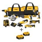 20-Volt MAX Cordless Combo Kit (9-Tool) with (2) 20-Volt 2.0Ah Batteries & (2) 20-Volt 4.0Ah Batteries