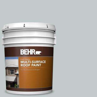 5 gal. #RP-12 Royal Slate Flat Multi-Surface Exterior Roof Paint