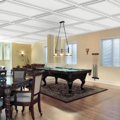 Wall Design 2 ft. x 4 ft. Aria Suspended Grid Panel Ceiling Tile (32 sq. ft. / case)
