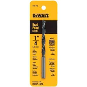 1/4 in. Steel Brad Point Drill Bit