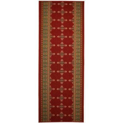 """Southwestern Kilim Cut to Size Red Color 31.5"""" Width x Your Choice Length Custom Size Slip Resistant Runner Rug"""