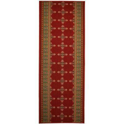 "Southwestern Kilim Cut to Size Red Color 36"" Width x Your Choice Length Custom Size Slip Resistant Runner Rug"