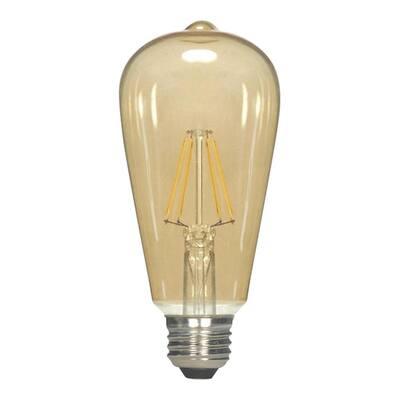 60-Watt Equivalent Vintage ST19 Dimmable LED Light Bulb