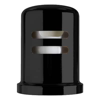 1-3/4 in. Heavy-Duty Skirted Brass Air Gap Cap Only in Matte Black