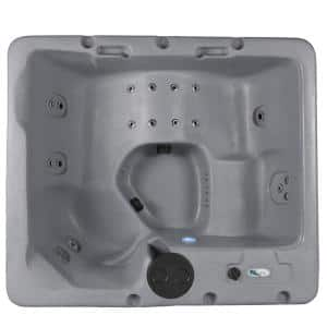 Largo LS 5-Person 30 Stainless Jet, Dual Lounger, Plug and Play Or 240V Hot Tub with Stainless Steel Heater and Ozone
