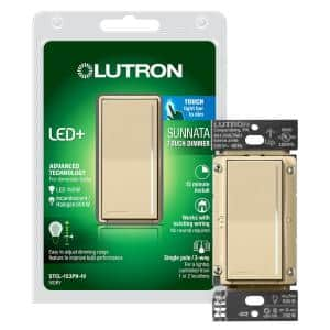 Sunnata Touch Dimmer with LED+ Advanced Technology, for LED, Incandescent and Halogen, Single Pole Only, Ivory
