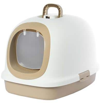 Fully Enclosed Hooded Odor-Free Front Entry Cat Toilet