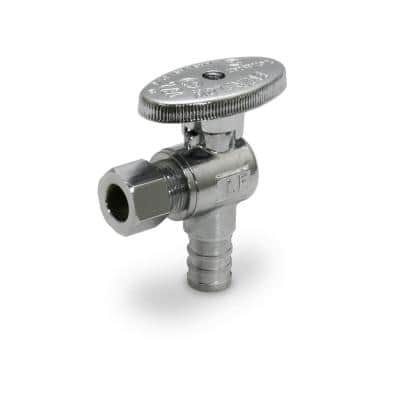 1/2 in. PEX Inlet x 3/8 in. O.D. Compression Outlet Quarter Turn Angle Stop Valve