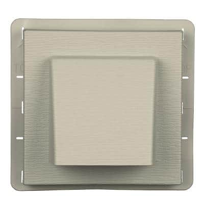 8 in. x 7.875 in. Water Management 4 in. Hooded Vent in #089 Champagne