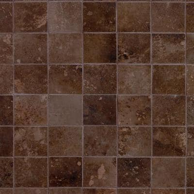 Voyager Copper Metal Look 12.4 in x 12.4 in Porcelain Mosaic Floor and Wall Tile (1.06 sqft / Piece)